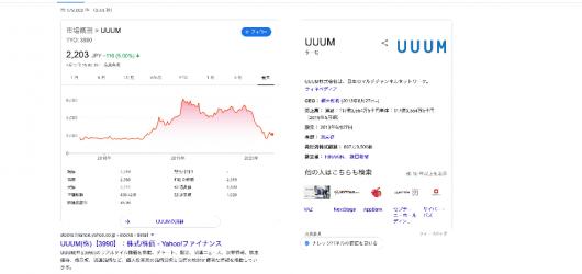 uuum 株価 - Google 検索