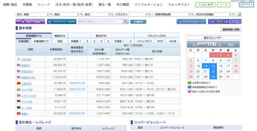 GMOクリック証券 - インフォメーション CFD